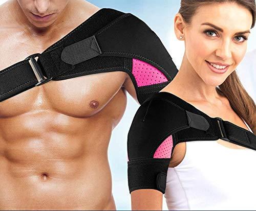 Schulterbandage Für Frauen Schulter Orthese Neopren Schulterstütze Verstellbare Unterstützung Bandage Verletzungsprävention und Genesung Sportverletzungen arthritische Schultern für Schulter