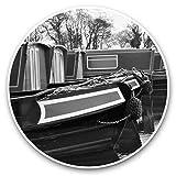 Impresionantes pegatinas de vinilo (juego de 2) 10 cm (bw) – Narrowboat?s Canal River Boat calcomanías divertidas para portátiles, tabletas, equipaje, libros de chatarra, neveras, regalo genial #37388