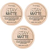 Rimmel Stay Matte Powder Polvo compacto Warm Honey 010 3 x 14 g