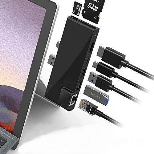 POWER TECHNOLOGIE - Hub USB C Surface Pro 7 USB Hub 3.0