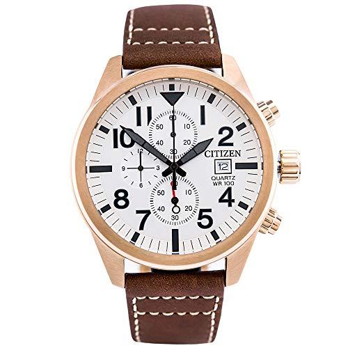 Relógio Citizen Masculino Ref: Tz31178e Cronógrafo Dourado