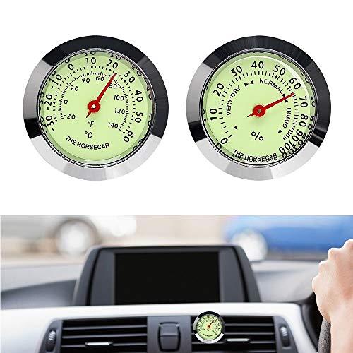LIANLI Adornos Coche Luminoso termómetro higrómetro Salida de Aire del Coche del Clip Decoración Interior Styling Accesorio Reloj Automóvil (Color Name : Hygrometer)