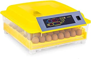 Egg Incubator,Fully Automatic 48 Digital Egg Incubators Chicken Goose Duck Poultry Hatcher with Egg Tray and Adjustable Te...