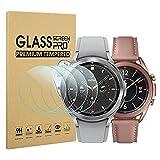 Diruite 4 Stück Panzerglas für Samsung Galaxy Watch 4 Classic 42mm/Galaxy Watch 3 41mm Schutzfolie,HD Glas Bildschirmschutzfolie Intelligente Uhr[Anti-Kratzen][Keine Blasenfrei]