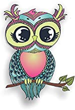 Vinyl Junkie Graphics Pastel Owl Sticker/Decal