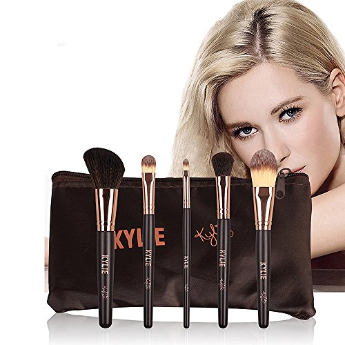 Teeya maquillage de balais brosse maquillage prime mélange synthétique blush poudre cosmétique foundation trousse maquillage brosse brosse 5 pièces pinceaux de maquillage