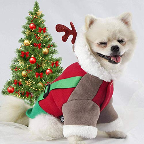 by Unbranded Hoodie Style Reindeerdog Christmas Costume for Dog Apparel Antlers Clothes Dog S M L XL...