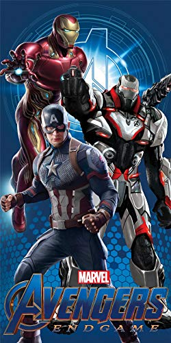 Marvel Avengers Endgame Strandtuch Captain America und Iron Man