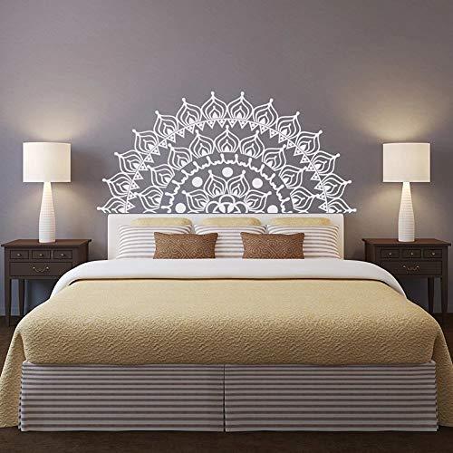 LKJHGU Neuer Kopfteil Mandala Wandaufkleber Halber Mandala Vinyl Wandaufkleber Lotus Mandala