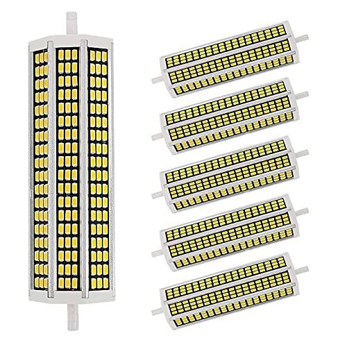 JZlamp 5W 10W 15W 20W R7S Bombilla LED de maíz 78 mm 118 mm 135 mm 189 mm AC 220V SMD 5730 Lámpara Reemplazo de luz halógena Iluminación de Reflector (5 Piezas),Warm White,20w 189mm