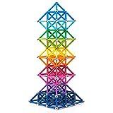 BANBBY 145 Piezas de Juguetes de Bloques de construcción magnéticos, Juego de imanes para niños, Palos mejorados de 33mm (10 Colores)