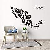 Wandaufkleber Mexiko Karte Vinyl Wandtattoo Mexikanische