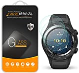 (3 Pack) Supershieldz for Huawei Watch 2 and Watch 2 Sport Tempered Glass Screen Protector, (Full Screen Coverage), Anti Scratch, Bubble Free