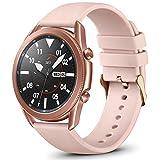 Vobafe 22mm Correa QuickFit Compatible con Garmin Vivoactive 4/Samsung Galaxy Watch 46mm/Watch 3 45mm, Correa Deportivo de Silicona para Garmin Fenix 5/5 Plus/Fenix 6/6 Pro, Pequeña Rosa