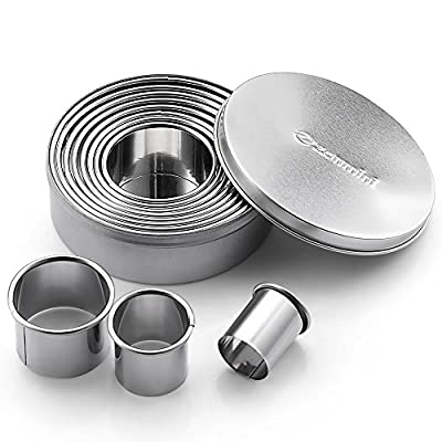 Cookie Cutter Set - Zanmini Stainless Steel Baking Cookie Cutters For Dough, Fondant, Donut and Muffins