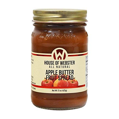 House of Webster Low Sugar Apple Butter Fruit Spread 15 oz