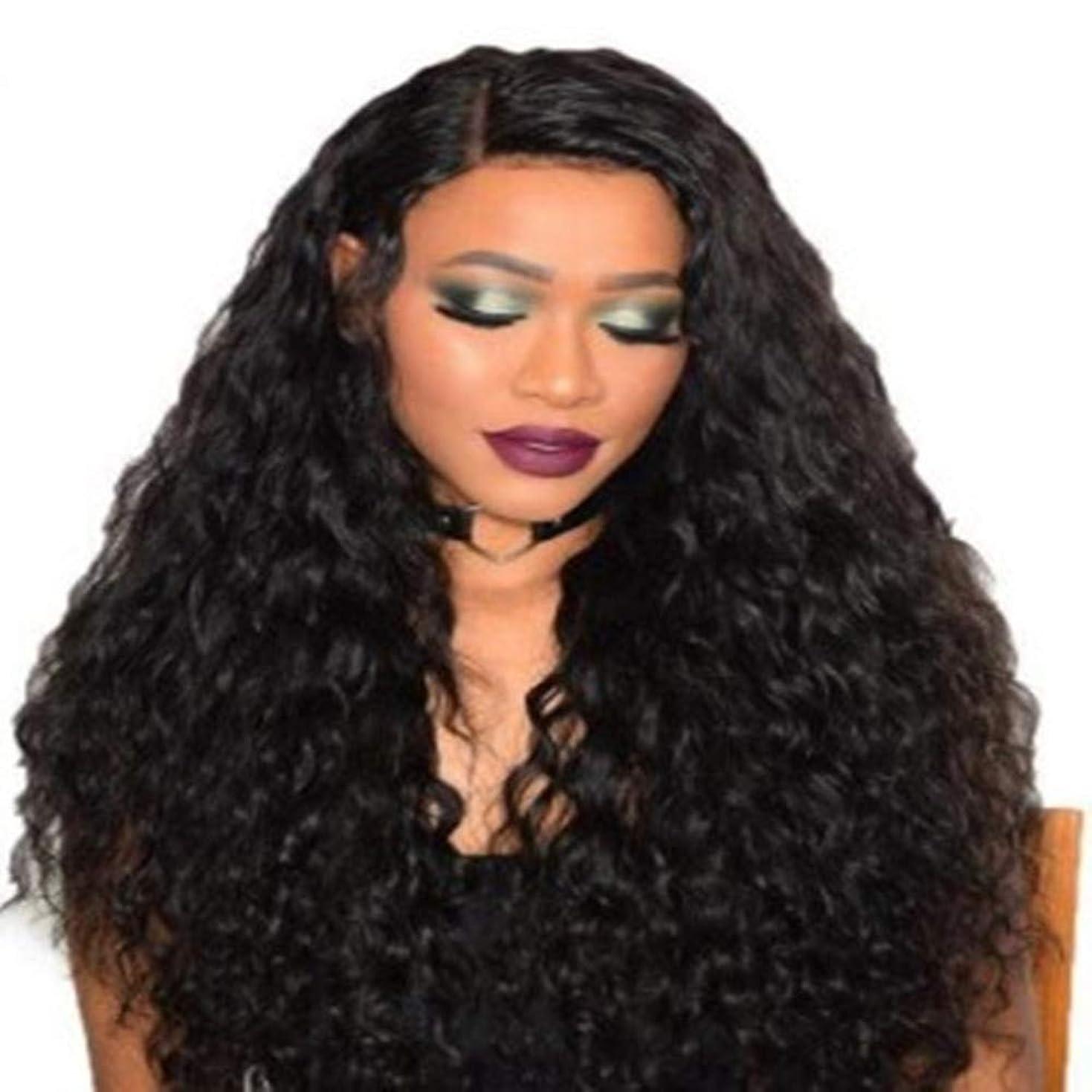 証明する船乗りリル女性の黒いトウモロコシ長い巻き毛のかつら75 cm