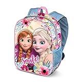 KARACTERMANIA Frozen La Reine des Neiges Smile 3D Sac à dos enfants, 31 cm, 8.5 litres, Multicolour
