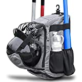 ZOEA Baseball Bat Bag Backpack, T-Ball & Softball Equipment & Gear for Youth and Adults | Large...