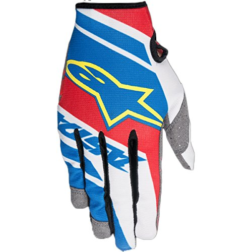Guantes Alpinestars Youth Racer Supermatic negro/azul/amarillo/azul/rojo/blanco, XS