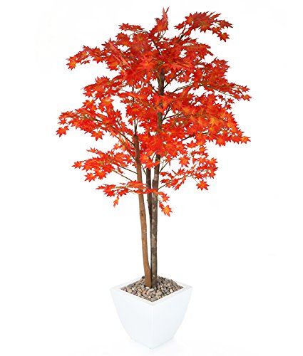 Closer to Nature Artificial 5ft 3' Red Japanese Maple Tree - Artificial Silk Plant and Tree Range