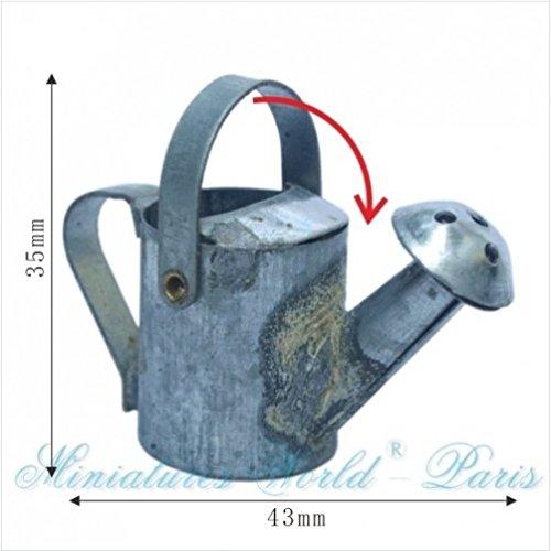 Miniatures World - Gieter van grijs metaal voor miniatuurdecors en poppenhuizen in schaal 1:12