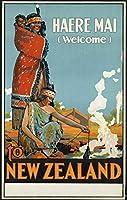 WELCOME TO NEW ZEALAND メタルポスター壁画ショップ看板ショップ看板表示板金属板ブリキ看板情報防水装飾レストラン日本食料品店カフェ旅行用品誕生日新年クリスマスパーティーギフト