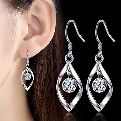 feilai Stud Earrings 925 sterling silver new Jewelry Woman Fashion Earrings Retro Long Tassel Cubic Zirconia Pop Hook Earrings