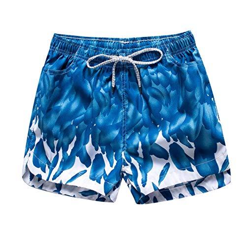 BIKETAFUWY Bañador para mujer de cintura alta, de secado rápido, con cordón ajustable y bolsillos azul celeste XXXLarge