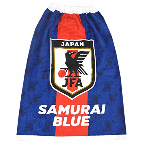JFA サッカー日本代表 サムライブルー ラップタオル 80cm 巻きタオル プールタオル pz-wrap22 JFA