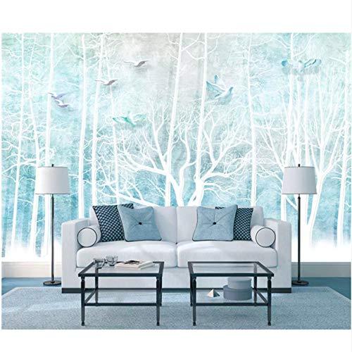 Mrlwy Tapetenbaum Der Kundenspezifischen 3D, Fantasiewaldvogelwandgemälde Für Wandtapetenwandbild Der Wohnzimmerschlafzimmersofahintergrundwand 3D-250X175CM