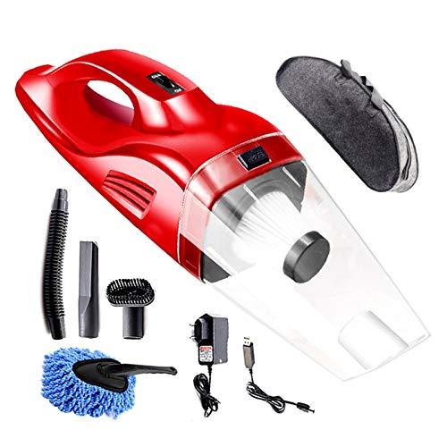Aspirador inalámbrico USB inalámbrico Recargable 120W aspiradora de Mano para automóvil/casera Mini Limpiador de vacío para Coche, hogar (Color : Red)