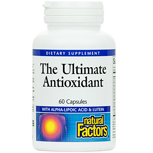 Natural Factors Ultimate Antioxidant Helps Reduce Free Radical Damage with AlphaLipoic Acid and Lutein 60 capsules 30 servings
