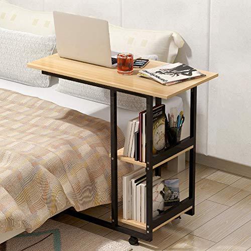 ZPEE Casa Camera Tavolo per Computer,Moderno Semplicistico Tavolo Pc Portatile,Mobile Scrivania per Computer Workstation,Studio Writing Desk con Ruote A 80x40cm(31x16inch)