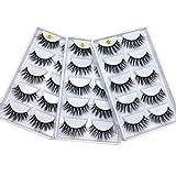 Huapan 3D Faux Mink Lashes: 15 Pairs of Fake Eyelashes with Lash Applicator