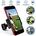 Golf Phone Holder Clip, Cell Phone Swing Recording Clip, Record Golf Swing and Training Aid Works with All Kinds Smart Phone, Clips to Golf Alignment Sticks and Golf Club Shaft Flag Stick