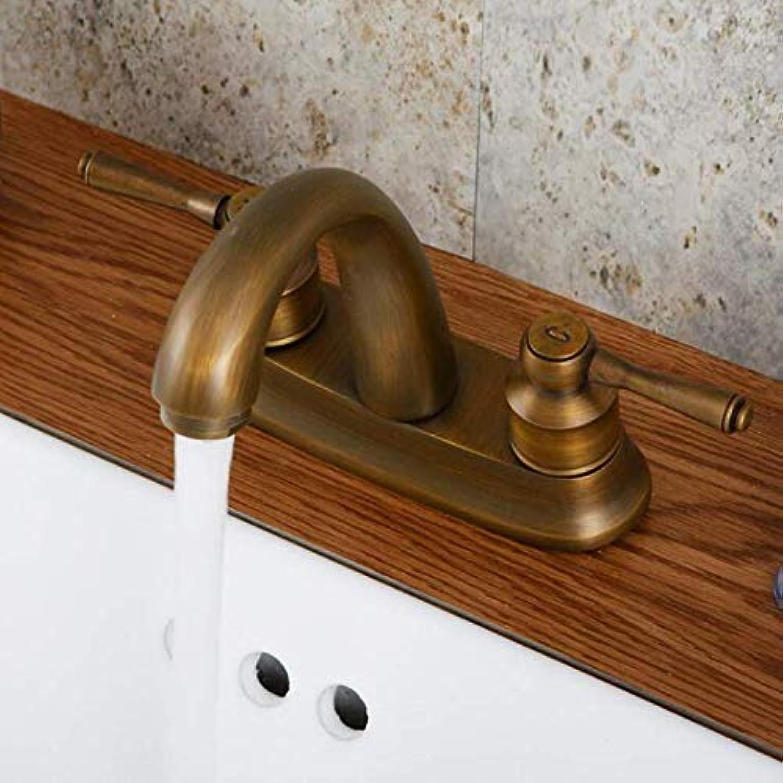 Wasserhahn Waschbecken Wasserhhne Messing Antik Schwarz Deck Montiert Küche Waschbecken Wasserhhne Dual Griff Heien Und Kalten Mischbatterie