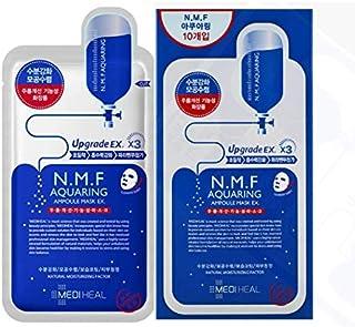 【正規輸入品】Mediheal メディヒール N.M.F アクアリング アンプル・マスクパックEX 30枚セット(10枚入り×3)(Aquaring Ampoule Essential Mask PackEX 1box(10sheet)×3