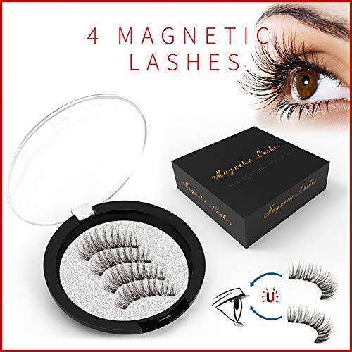 Magnetische Eyeliner En Wimperset, Waterdichte Magnetische Vloeibare Eyeliner, Ultradunne Magneet, Verspreidbare Duurzame 3d Herbruikbare Valse Wimpers, Geen Lijm En Natuurlijk Uiterlijk,Dwsp
