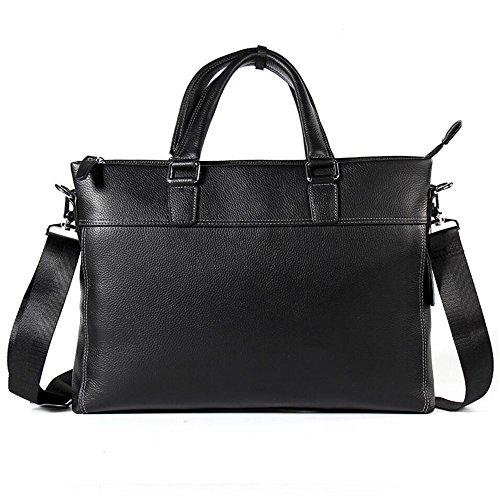WENMW Totalizator luxe lederen schoudertas voor heren - casual schoudertas - grote capaciteit van hoogwaardig leer - laptoptas met grote doorsnede