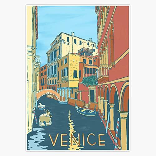 "STG Trading Venice Italy Vintage Print Vinyl Bumper Sticker Decal Waterproof 5"""