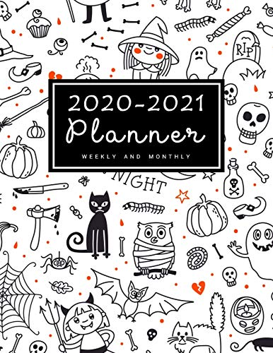 2020-2021 Weekly & Monthly Planner: Two Years Calendar Schedule, Squares Quad Ruled, Dot Notes, Monthly Goals Setting, Action Plan, No Holiday Halloween Pumpkin(January 2020 through December 2021)