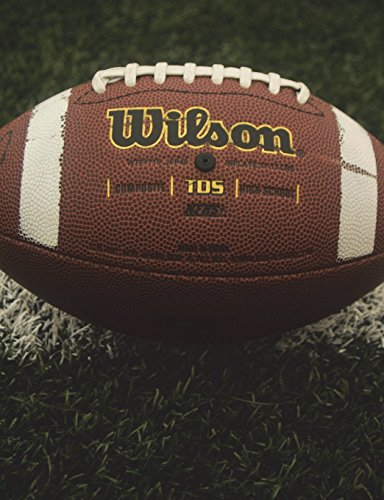Fooball Team Journal (3): Football Journal: Draw Plays & Write Stats: (Half Page Lined Paper With Drawing Space) 7.44x9.69; 135 sheets/270 pages