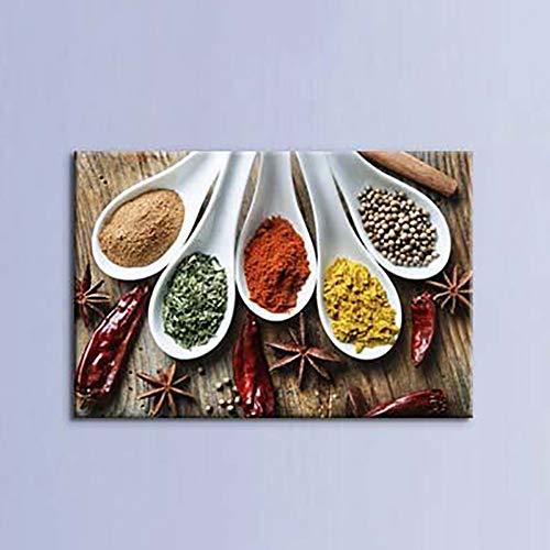 Decoratie canvas schilderij 1 venkel kruiden afbeelding wandafbeeldingen keuken poster voor woonkamer zonder frame. Kein Rahmen 50 x 70 cm.