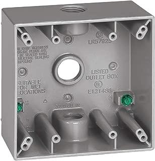 Sigma Electric, Gray 14350 1/2-Inch 3 Hole 2-Gang Box
