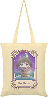 Deadly Tarot Kawaii The Hermit Tote Bag Cream 38x42cm
