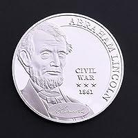 アメリカ南北戦争1861年お土産コイン銀メッキコインコレクションお土産ギフト