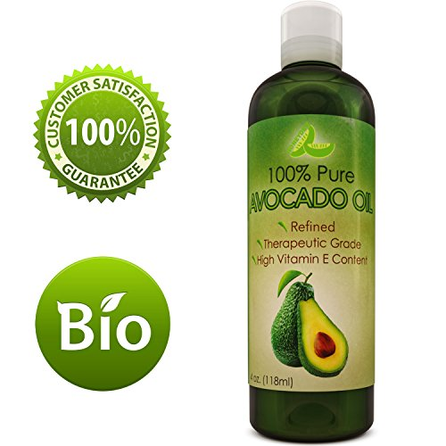 Avocado Oil For Hair Skin Nails Cold Pressed Antioxidant Nutrient Rich Oil Great as Massage Oil Anti-Aging Anti-Wrinkle Skin Care...