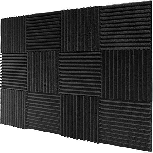 """Mybecca 12 Pack- Acoustic Panels Studio Foam Wedges 1"""" X 12"""" X 12"""""""