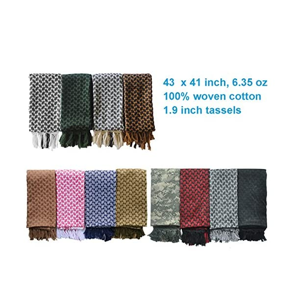 Explore Land Cotton Shemagh Tactical Desert Scarf Wrap 4